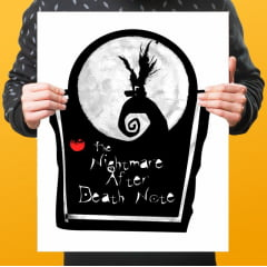 Quadro Decorativo THE NIGHTMARE AFTER DEATH NOTE