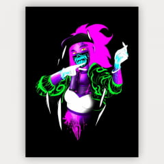Quadro Decorativo Velcro Akali K/Da League of Legends