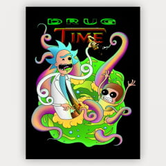 Quadro Decorativo Velcro Drug Time - Rick and Morty