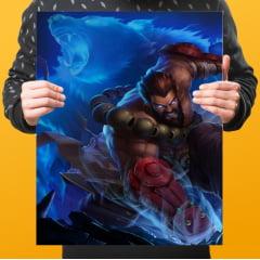 Quadro Decorativo Velcro Udyr guardião espiritual - League of Legends