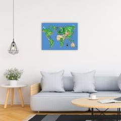 Quadro Mapa de Super Mario World
