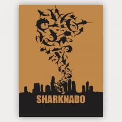 Quadro Minimalista Filme Sharknado