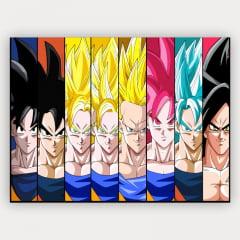 Quadro Nerd - Goku todas formas - Anime Dragon Ball