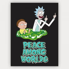 Quadro Rick and Morty - Paz entre os mundos