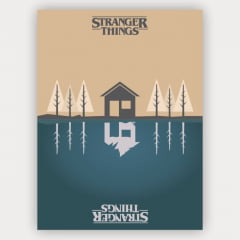 Quadro Stranger Things Minimalista - Mundo invertido