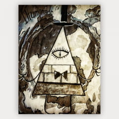 Quadro Decorativo Velcro Bill Cipher - Gravity Falls